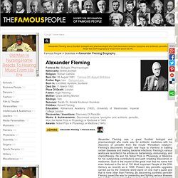 Alexander Fleming Biography - Alexander Fleming Childhood, Life & Timeline