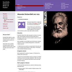 Alexander Graham Bell biography - Science Hall of Fame
