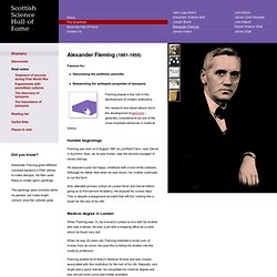 Alexander Fleming biography - Science Hall of Fame