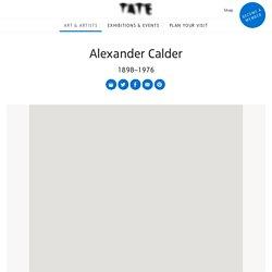 Alexander Calder 1898–1976