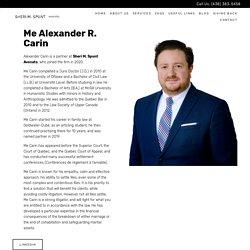 Alexander R. Carin - Partner at Sheri M. Spunt Avocats