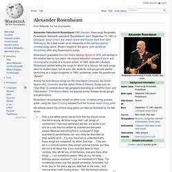 Alexander Rosenbaum - Wikipédia, l'encyclopédie libre