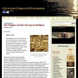 """Alexander Jacob, """"The Origins of Indo-European Religion"""""""
