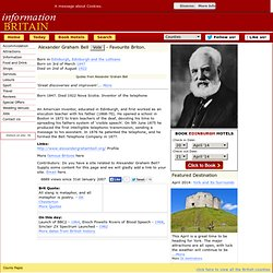Alexander Graham Bell, famous people from Edinburgh.