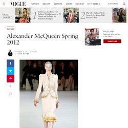 Alexander McQueen Spring 2012 — Review
