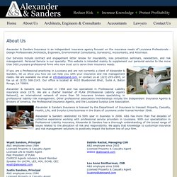 Alexander & Sanders Insurance Specialists - About Us