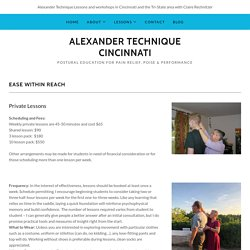Alexander Technique - Alexander Technique Cincinnati