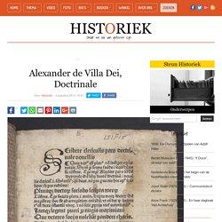 Alexander de Villa Dei, Doctrinale