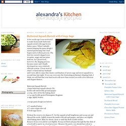 Butternut Squash Ravioli with Crispy Sage
