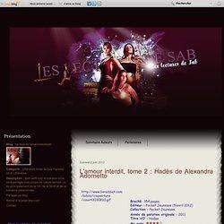 L'amour interdit, tome 2 : Hadès de Alexandra Adornetto - Le blog de leslecturesdesab