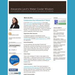 Alexandra Levit's Water Cooler Wisdom