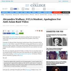 Alexandra Wallace, UCLA Student, Apologizes For Anti-Asian Rant Video