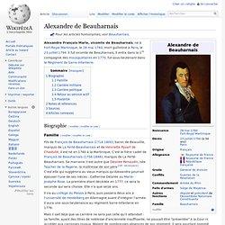 Alexandre de Beauharnais 1760-1794