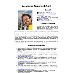 Alexandre Bouchard-Côté