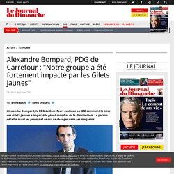 """Alexandre Bompard, PDG de Carrefour : """"Notre groupe a été fortement impacté par les Gilets jaunes"""""""