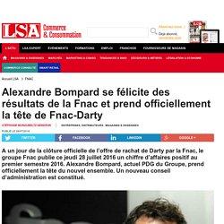 Alexandre Bompard se félicite des résultats...