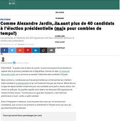 Comme Alexandre Jardin, ils sont plus de 40 candidats à l'élection présidentielle (mais pour combien de temps?)