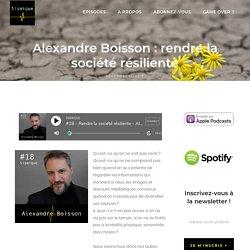 Alexandre Boisson : rendre la société résiliente - Sismique
