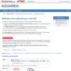 alexandria: Biblioteca de materials per a les PDI