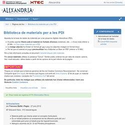 exemple alexandria: Biblioteca de materials per a les PDI