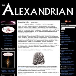 The Alexandrian » Three Clue Rule