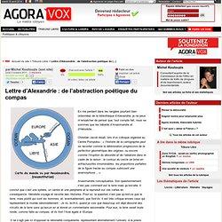 Lettre d'Alexandrie : de l'abstraction poétique du compas