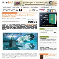 Team Alexandriz,N°1 sur les ebooks FR