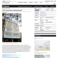 Joris Braat — EF37 / 8 apartments in Alexandroupolis