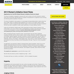 Alexia Foundation : Women's Initiative 2014