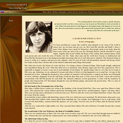 Svetlana Alexievich - Voices from Big Utopia - Home Page, Swetlana Alexijewitsch