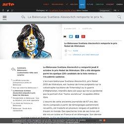La Biélorusse Svetlana Alexievitch remporte le prix Nobel de littérature