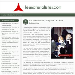 Les matérialistes - ALF 1/15