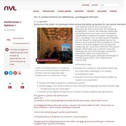Den 13. nordiske konference om alfabetisering - grundlæggende litteracitet>NVL - Nordiskt nätverk för vuxnas lärande