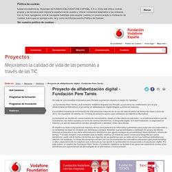Proyecto de alfabetización digital - Fundación Pere Tarrés