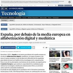 España, por debajo de la media europea en alfabetización digital y mediática