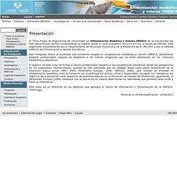 Alfabetización mediática y valores UNESCO