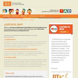 PAD: Programa de Alfabetización Digital. Provincia de Buenos Aires.