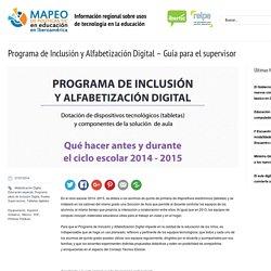 Programa de Inclusión y Alfabetización Digital – Guía para el supervisor
