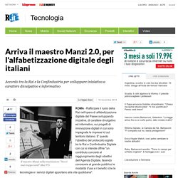 Arriva il maestro Manzi 2.0, per l'alfabetizzazione digitale degli italiani