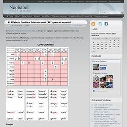 El Alfabeto Fonético Internacional (AFI) para el español - Neobabel