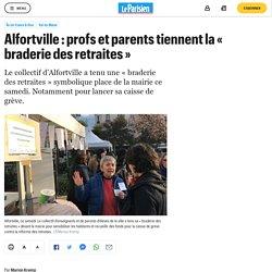 Alfortville : profs et parents tiennent la « braderie des retraites »