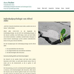 Individualpsychologie von Alfred Adler