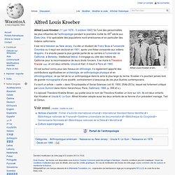Alfred Louis Kroeber 1876-1960