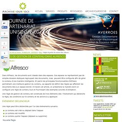 Alfresco Tunisie - Règles de gestion de contenu dans Alfresco - archiveyourdocs.com