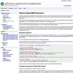 alfresco-opencmis-extension - Alfresco OpenCMIS Extension