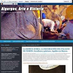 Algargos, Arte e Historia: LA DOMUS AUREA. LA DECORACIÓN DEL PALACIO DE NERÓN. Escultura y pintura. Aquiles en Skyros.