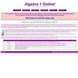 Algebra 1 Online!