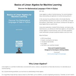 Basics of Linear Algebra for Machine Learning