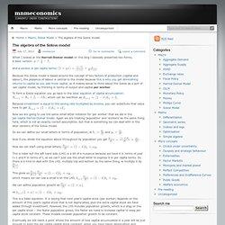 The algebra of the Solow model « mnmeconomics
