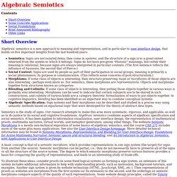 Algebraic Semiotics